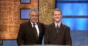 KEN JENNINGS BREAKS THE ONE MILLION DOLLAR MARK ON THE 'JEOPARDY' TV SHOW, CULVER CITY, CALIFORNIA, AMERICA - 14 JUL 2004