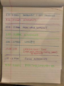 schedule routine